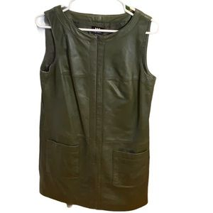 W by Worth green leather dress